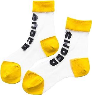 [RONDEL-BLACK(ロンデルブラック)]シースルーソックス レディース 透け 靴下 ソックス SUPER スポーティー ガール 女の子 22~24cm yellow