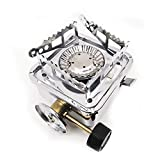 Linhua Folding Camping Stove Outdoor Gas Survival Furnace Picnic Cooking Gas Burners Cookware Camp Equipment Mini Steel Stove Case for Camping ,Outdoor, Backpacking & Hiking