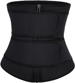 Feelingirl Women Waist Trainer Underbust Corset Trimmer Slimming 2 Belt Body Shaper