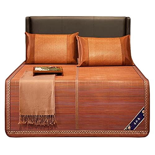 LZG Almohadilla de colchón de bambú Fresco, colchón de bambú Plegable con Funda de Almohada, colchoneta de enfriamiento de Verano y Tejido de Fibra de celulosa reversa (tamaño : Queen 59x 77in)