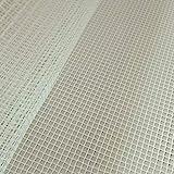 R-WEICHONG Alfombra de punto de malla, con gancho, tela de malla, para hacer alfombras, tapicería, kit de herramientas para bordado, artesanía, decoración, 100 x 150 cm