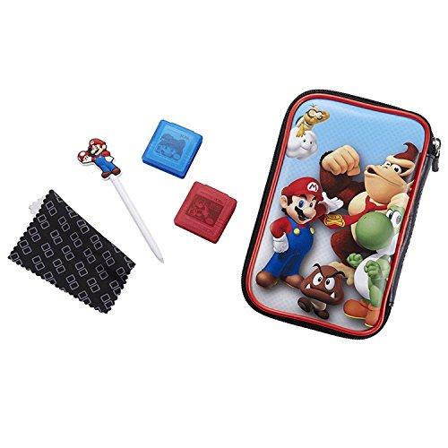 BigBen - Custodia per Nintendo New 2DS XL   3DS XL   3DS XL, set di accessori ufficiali Essential Mario Pack, 4 motivi a scelta, per proteggere New 2DS XL   3DS e giochi Set Donkey Kong.