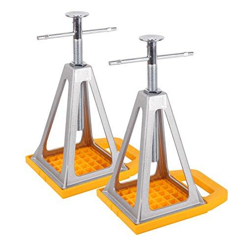 Camco Stützbock, Unterlegplatten 2er Set - höhenverstellbar 28-43 cm, Tragelast 2722 Kg für Wohnwagen oder Anhänger
