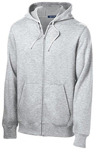 Sport-Tek Men's Big And Tall Durable Full-Zip Hooded Sweatshirt - Vintage Hthr TST258 2XLT