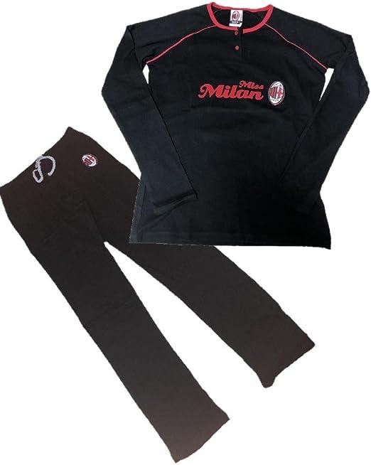 Pigiama Donna AC Milan Maglia e Pantaloni Abbigliamento Calcio PS 10304