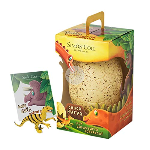 Huevo pascua dinosaurio chocolate blanco sin gluten Simon COLL 330 GR