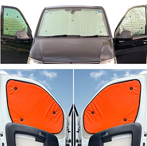 Fensterrollo-Set für Mercedes Sprinter (2006–2019), mit Regensensor und Ausschnitt, wendbar, Thermisch