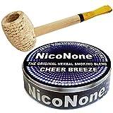 Missouri Meerschaum Pipe & NicoNone Herbal Smoking Blend 20g Tin (Cheer Breeze)
