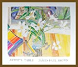James-Paul Brown Poster Bild Kunstdruck Artists Table