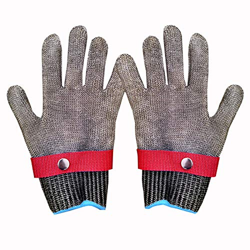 WXYZ schnittschutzhandschuhe Schnittfeste Handschuhe Aus Stahldraht 361L, rutschfeste, Verschleißfeste Sicherheitsarbeitshandschuhe Der Klasse 5, Die Zum Schlachten Von Holzschnitzereien In Der Küche