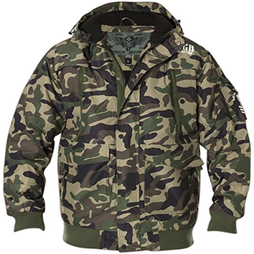 Yakuza Premium Männer Winter Jacke 2360 Camouflage - M