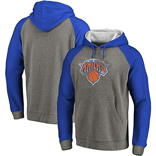 LDFN Basketball Hoodie Männer Basketball-Hoodie, New York Knicks T-Shirt, Herbst Trainings Langarm-Ball-Anzug S-XXXL (Color : A, Size : S)