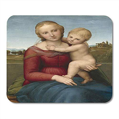 Muis Pads De Kleine Koe Madonna Raphael C Italiaanse Renaissance Schilderij Olie Op Panel Deze Muis Pad Voor Notebooks Muismatten - 9.4x7.8 inch