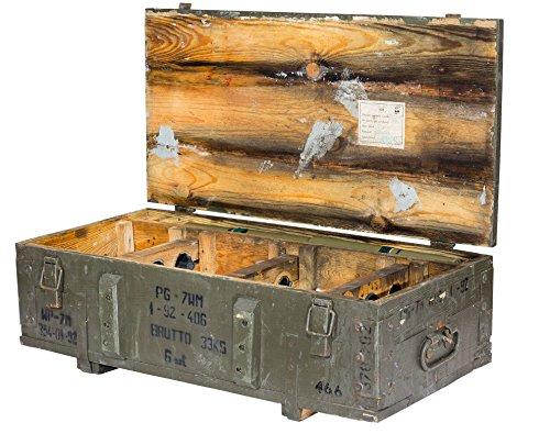 Vintage Möbel 24 GmbH Historische große Munitionskiste 80x38x17cm