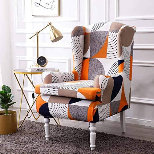 DSDD Fundas para sillón de Orejas de Tela Jacquard de Spandex, 2 Piezas, Protector Suave y Duradero para Muebles, Funda elástica para sillón de Orejas, Funda para sofá-A