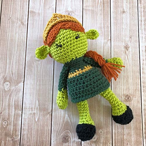 Princess Fiona from Shrek Inspired Doll/Fiona Doll/Soft Toy Doll/ Plush Toy/ Stuffed Toy Doll/ Amigurumi Doll/ Baby Doll- MADE TO ORDER