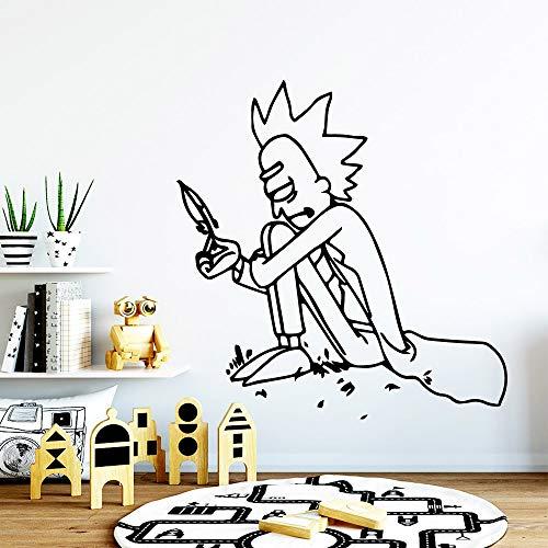 zhuziji Romantische Banksy Street Boy Wandkunst Aufkleber Wandaufkleber PVC Material Für Wohnzimmer Klassenzimmer Büro Dekoration Abnehmbare 43x44 cm