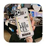 Carcasa de teléfono para iPhone 11 Pro X XR XS Max 6 6S 7 8 Plus con diseño de billete de avión de viaje con etiqueta de país suave TPU para iPhone 11 -T4-For iPhone 11