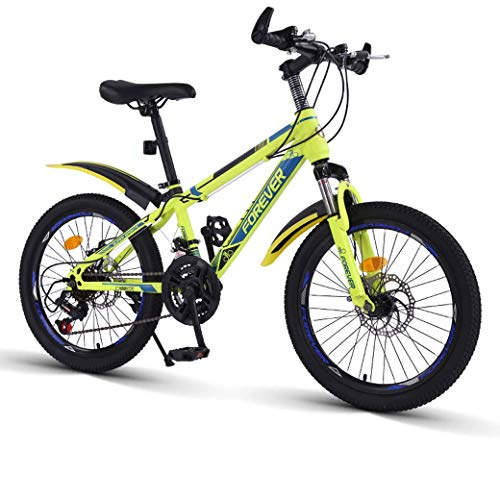 20-Inch variabele snelheid Mountain Bike - 21 Speed ​​Comfortabele Saddle, anti-slip pedaal, verende voorvork, veilige en gevoelige Brake, Children's Bicycle