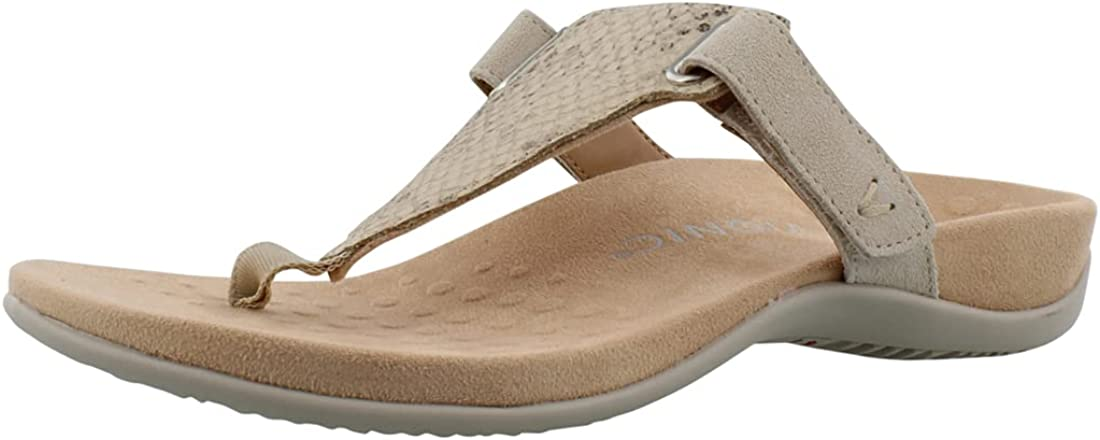 Vionic Women's Rest Wanda Toe Post Sandal- Ladies Sandals that include Three-Zone Comfort with Orthotic Insole Arch Support