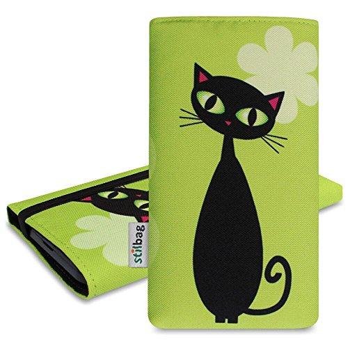 Stilbag tas 'MIKA' voor Apple iPhone 5s - Design: Zwarte kat