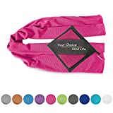 Your Choice Cooling Towel Snap Cool Towel for Gym Workout Yoga Fitness. Use as Cooling Neck Wrap, Scarfs or Bandanas. Great Gift for Women in Hot Summer Roes Red 12 x 40 Inch