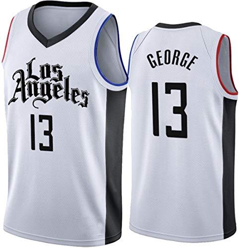 WSUN Camisetas De Baloncesto De La NBA # 13 Paul George Clippers Jersey Camiseta De Malla Bordada Ropa Deportiva Unisex Aficionado Al Baloncesto Chaleco Deportivo Sin Mangas,S