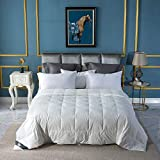Globon Down Blanket, Extra Lightweight for Summer, Noiseless & Extra Soft Down Proof Shell, 400 Thread Count, 750 Fill Power, King Size 106x90 inches,12 Ounce Fill Weight, White