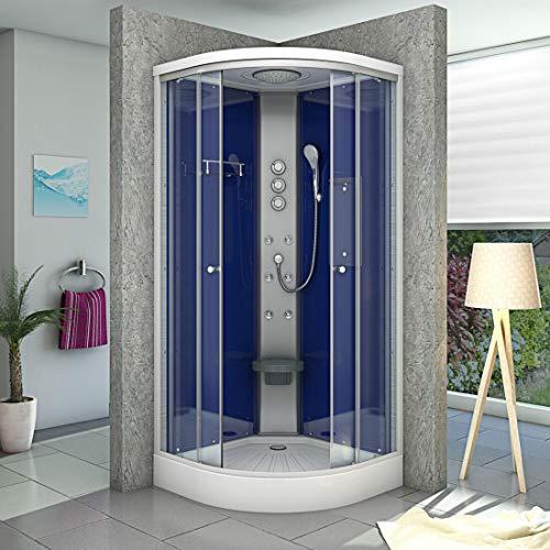 AcquaVapore DTP10-2201 Dusche Duschtempel Duschkabine Fertigdusche 100x100cm OHNE 2K Scheiben Versiegelung