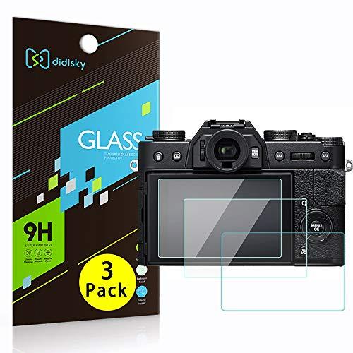 Didisky [3-Unidades Cristal Templado Protector de Pantalla para Fujifilm X-T30 / X-T20 / X-T10 / X-T100, Antihuellas, Sin Burbujas, Fácil de Limpiar, 9H Dureza, Fácil de Instalar, Transparente