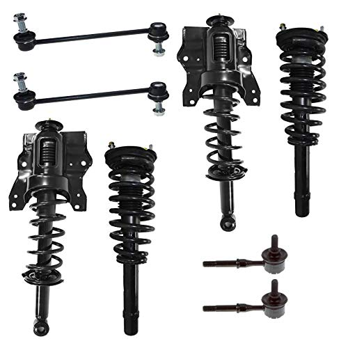 Detroit Axle - 8PC Front and Rear Strut & Coil Spring Complete Assemblies w/Sway Bar Links for 2001-2005 Hyundai Sonata/Kia Optima