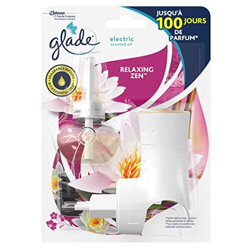 GladeElectric scented oil - Relaxing ZenTM, diffuseur électrique d'huile parfumée, 1diffuseur + 1recharge, 20ml