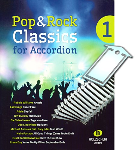 Pop and Rock Classics for Accordion [Noten/sheet music] mit praktischer Notenklammer