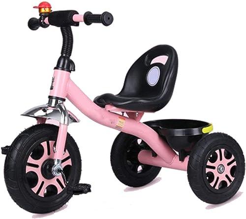 WYRSXPY Kinderwagen Kinderwagen 1-6 Jahre alt leichtes Fahrrad Nicht aufblasbar (Farbe   Rosa)