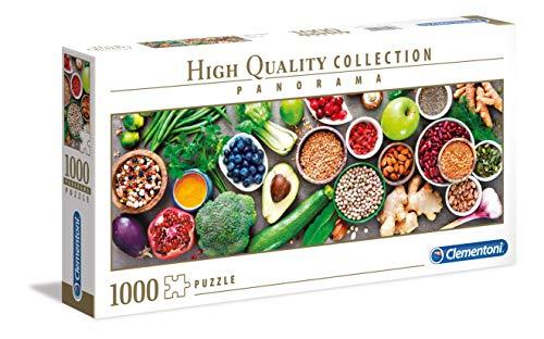 Clementoni- Panorama-Healthy Veggie Puzzle, 1000 Pezzi, Multicolore, 39518
