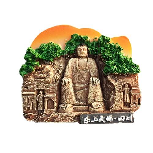 Imán para nevera 3D Leshan gigante de Buda Sichuan de China para regalo de resina
