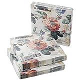 Ikea SMAKSINNE, tovaglioli di carta a 3 strati, motivo floreale, 33 x 33 cm, set da 90