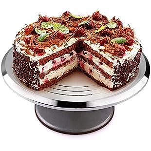 """Uten 12"""" Cake Turntable Stand, Aluminum Heavy Duty Cake Revolving Stand Holder Rotary Table Cake Baking Decor Tools:Hitspoker"""