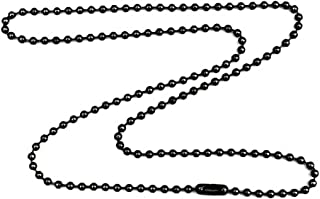 DragonWeave Gunmetal Steel 3.2mm Ball Chain Necklace with Extra Durable Color Protect Finish