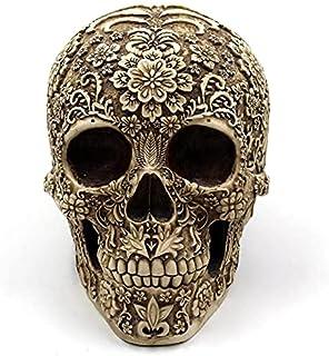 cráneo floreado día de muertos México catrín 20cm