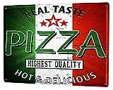 Fluse Real Taste Pizza Highest Ouality Hot&Delicious Plaque métal Vintage Art Chic Métal Rétro Enseignes métalliques 8x12 Pouces