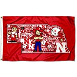 College Flags & Banners Co. Nebraska Cornhuskers Mosaic Logos Flag