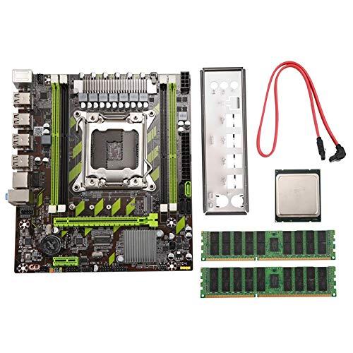 Baalaa X79 X79G - Juego de placas base con LGA2011 Combos Xeon E5 2620 CPU 2 piezas x 4 GB = 8 GB memoria DDR3 1333 MHz PC3 10600R