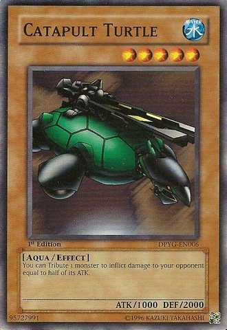 YU-GI-OH! - Catapult Turtle (DPYG-EN006) - Duelist Pack Yugi Moto - Unlimited Edition - Common