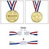 Zoom IMG-2 medaglie oro plastica di vincitore