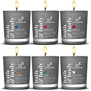 ArtNaturals Scented Candle Gift Set - (6 x 2 Oz/60g) - Aromatherapy Set of Fragrance Soy Wax - Made in USA with Essential Oils - for Stress Relief and Relaxation