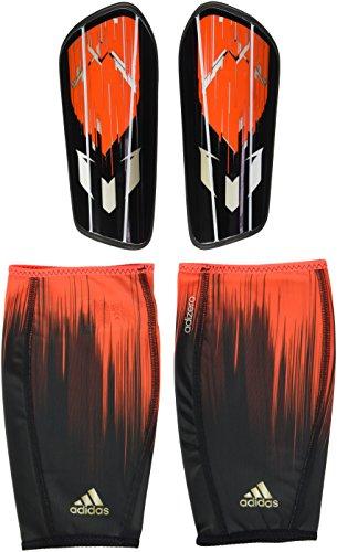 adidas Schienbeinschoner Messi 10 Pro, Solar Red/Core Black/Dust Met. S09, XL