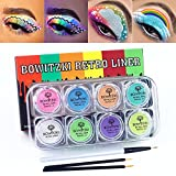 Bowitzki 8x5 Gram Water Activated Eyeliner Hydra Liner Makeup Pastel UV Glow Color Graphic Face and Body Paint