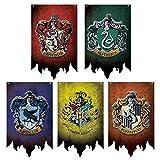 FomCcu Hogwarts Maison bannières murales Serdaigle Poudlard Maison Drapeaux fête Enfants Cadeau pour Les Fans de Harry Potter