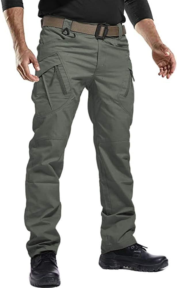 FEDTOSING Men's Casual Cargo Pants Outdoor Military Pants Army T